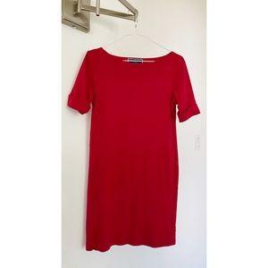 Karen Scott 100% Cotton Red Short Sleeve Dress